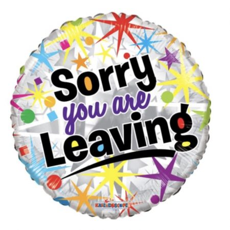 18 inch Sorry You Are Leaving - Spots and Stars Balloon