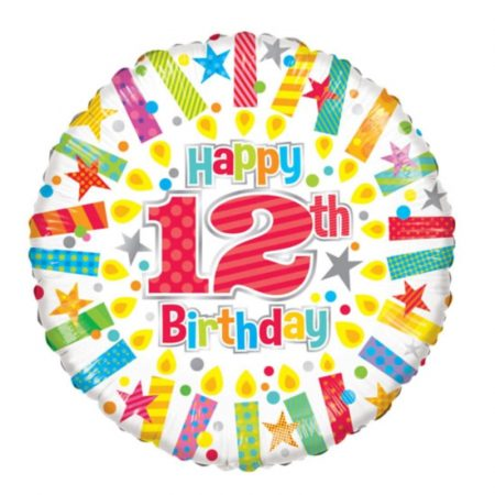 18 inch Age 12 Candles Balloon
