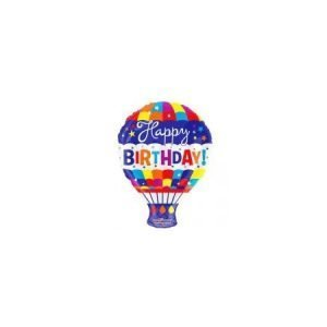 18 inch Happy Birthday Balloon - Hot Air Balloon