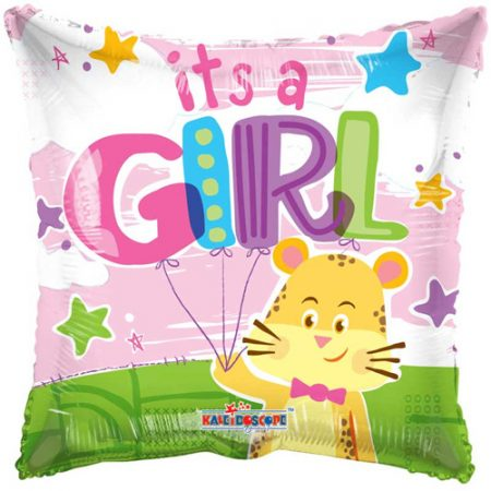18 inch New Baby - It's A Girl Square Balloon