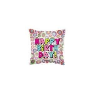 18 inch Happy Birthday Balloon Pillow Circles