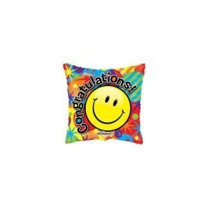 18 inch Congratulations - Emoji Square Balloon