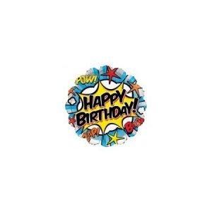 18 inch Happy Birthday Balloon - Comic