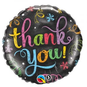 18 inch Thank You - Chalkboard Balloon