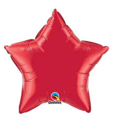 18 inch Star Balloon - Ruby Red