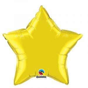 18 inch Star Balloon - Citrine Yellow