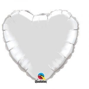 18 inch Heart Balloon - Silver