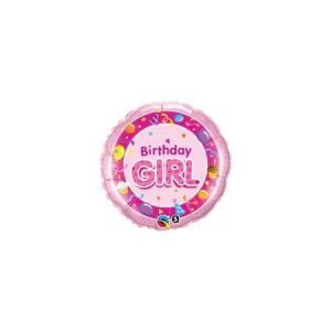 18 inch Balloon Birthday Girl Pink Party