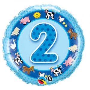 18 inch Blue Age 2 Farm Balloon