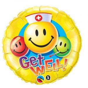 18 inch Get Well - Emoji Balloon
