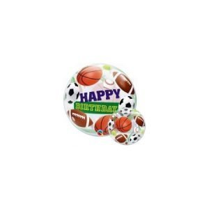 22 inch Happy Birthday Bubble Balloon - Sports