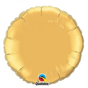 18 inch Round Balloon - Metallic Gold