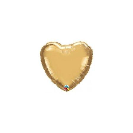 18 inch Heart Balloon - Metallic Gold