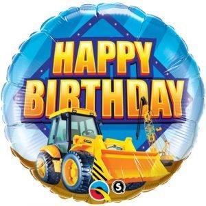 18 inch Happy Birthday Balloon - Digger
