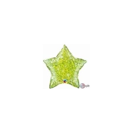 18 inch Holographic Star Balloon - Jewel Lime