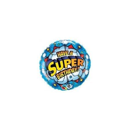 18 inch Happy Birthday Balloon - Super Birthday