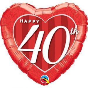 Ruby Anniversary helium balloon
