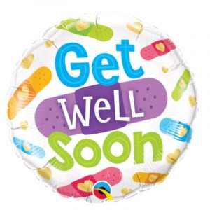 18 inch Get Well Soon - Plasters Balloon