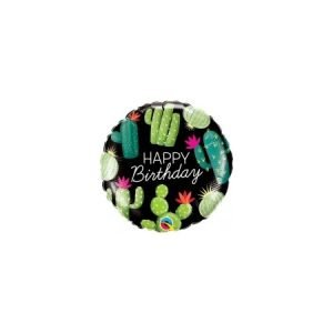 18 inch Happy Birthday Balloon Cactus