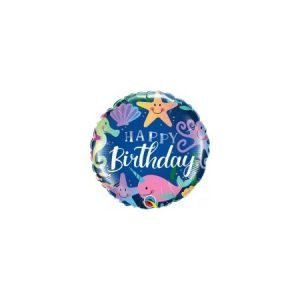 18 inch Happy Birthday Balloon - Under The Sea