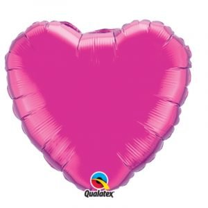 18 inch Heart Balloon - Magenta