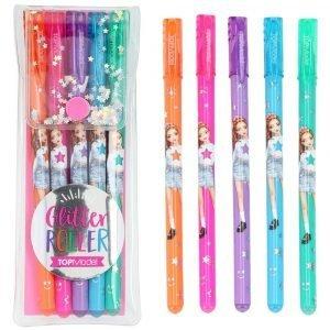 Top Model Glitter Roller Gel Pens x 5