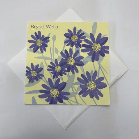 Brysia Wella Purple Flowers Card
