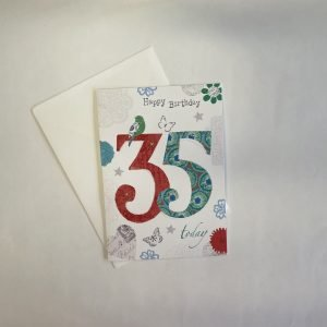 Happy Birthday 35 Today Age Card