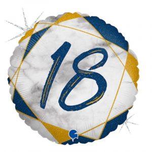 Age 18 helium balloon