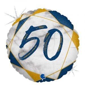 Age 50 helium balloon