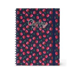 Legami A4 Trio Wirebound Notebook - Cherry Bomb