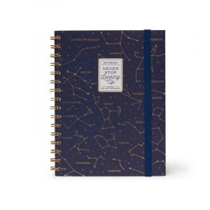 Legami A5 Wirebound Lined Notebook - Never Stop Looking Up