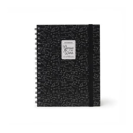 Legami A5 Wirebound Lined Notebook - Genius At Work