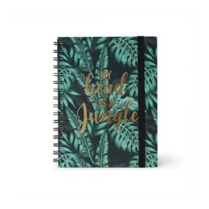 Legami A5 Wirebound Lined Notebook - My Head Is A Jungle