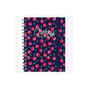 Legami A5 Wirebound Lined Notebook - Cherry Bomb