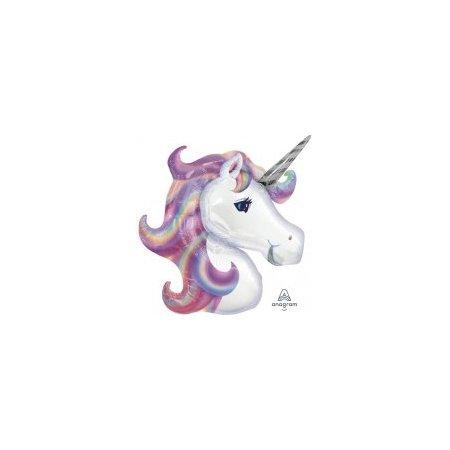 33 inch Supershape Balloon - Lilac Unicorn Head