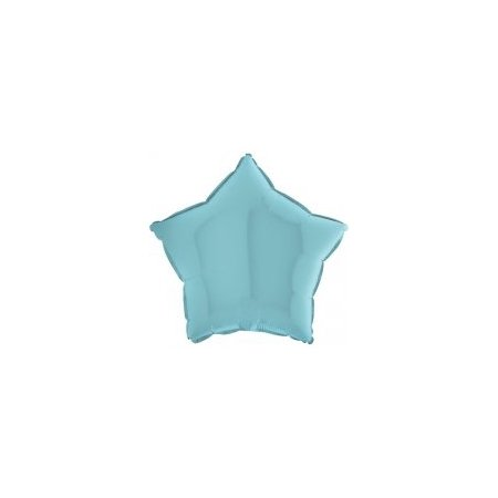 18 inch Holographic Star Balloon - Pastel Blue