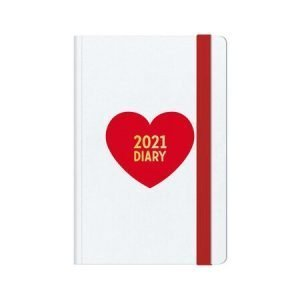 Legami Week To View Diary With Notes 2021 - Heart