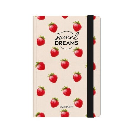 Legami Week To View Diary With Notes 2021 - Strawberries