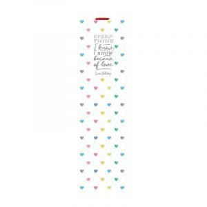 Legami Bookmark With Elastic Page Marker - Hearts