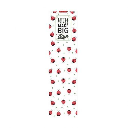 Legami Bookmark With Elastic Page Marker - Ladybirds