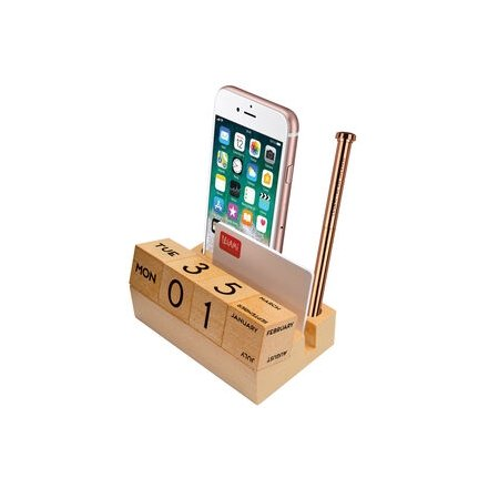 Legami Wooden Calendar & Desk Tidy