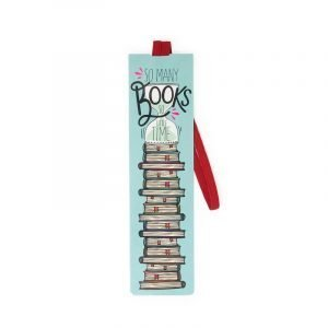 Legami Bookmark With Elastic Page Marker - So Many Books So Little Time