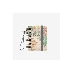 Legami Micro Wirebound Notebook - To Travel Is To Live