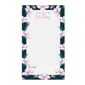 Legami Paper Thoughts Notepad - Live Life In Full Bloom