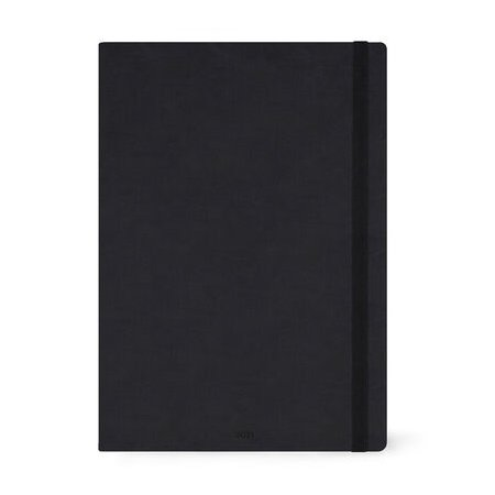 Legami Large Page A Day Diary 2021 - Black