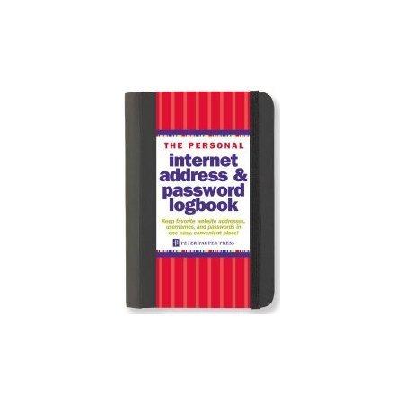 Peter Pauper Internet Address and Password Log Book - Black