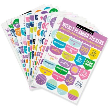 Weekly Planner Stickers x 575 - Coloured