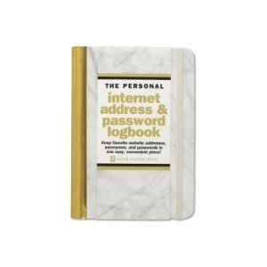 Peter Pauper Internet Address and Password Log Book - Marble