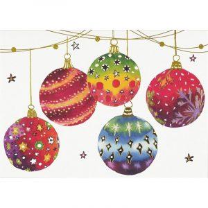Box of 20 Christmas Cards - Festive Ornaments